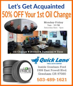 Half Off First Oil Change at Quick Lane