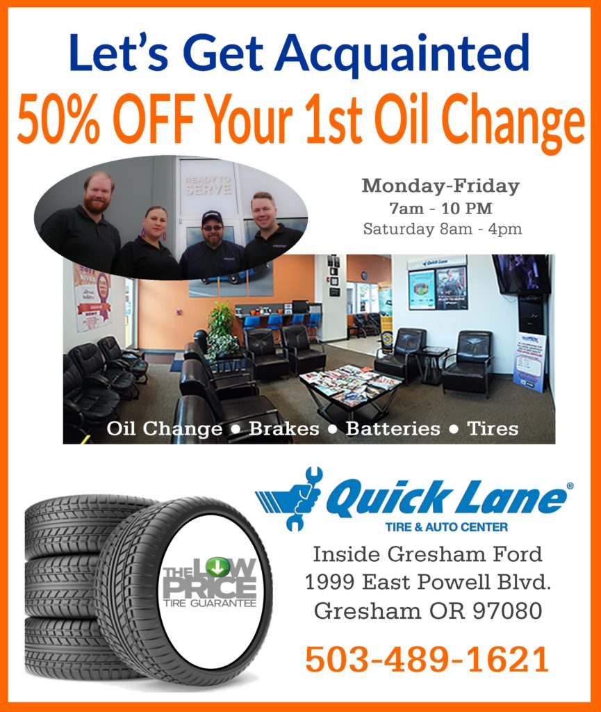 Oil Change Discount Gresham Oregon